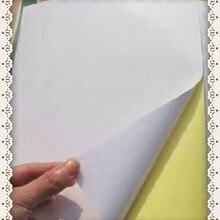A4 пустая белая покрытая Глянцевая Самоклеющаяся этикетка стикер A4 Этикетка Бумага для лазерного принтера