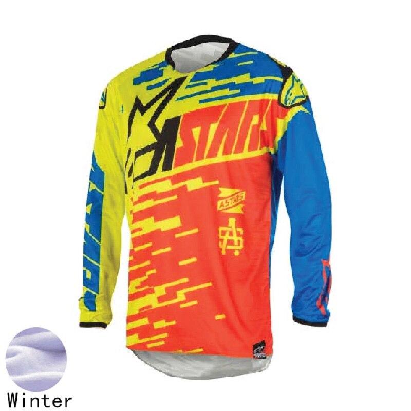 bike Motocicleta de motocross DH MX downhill bike long sleeve riding gear ATV Team cycling racing Jersey Off-road moto cycle shi