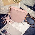 YBYT brand 2016 new mini joker leisure tassel semicircle package high quality women shopping handbag lady shoulder crossbody bag