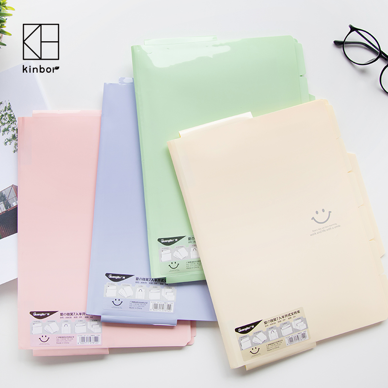 A4 Plastic File Folder Smile Eomji Clear Book Document Folder Display Book Office School Data Folder articulos de oficina plastic file folder a3 data book color page 20 insert clip 8k drawings album poster a3 file folder for office