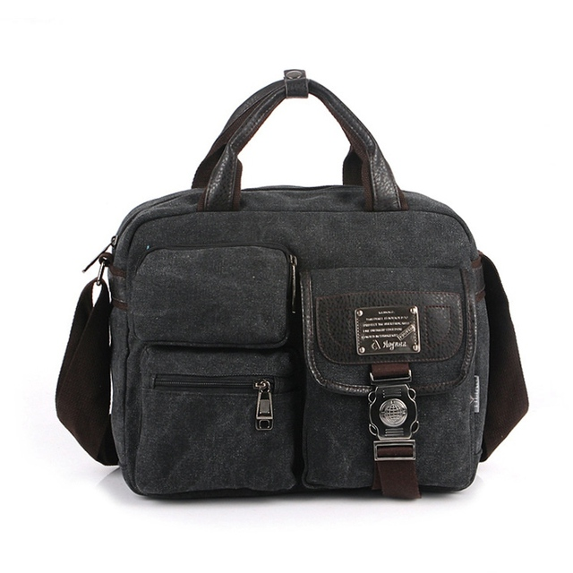 High Quality Men s Canvas Handbags Fashion Messenger Postman Bags for Men  Mens Women Casual Travel Shoulder 5e0d0be4538f9