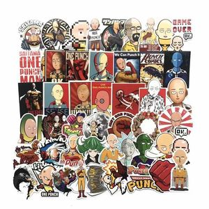 Image 3 - TD ZW 50 Pcs/lot Japanese Anime ONE PUNCH MAN Stickers For Car Laptop Phone Skateboard Motorcycle Bicycle Cartoon Sticker