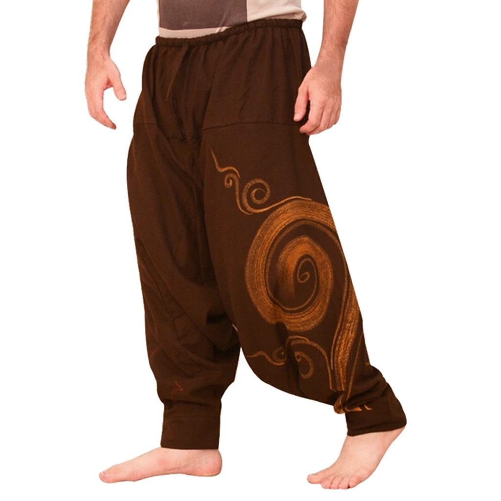 Мужские комбинезоны с этническим принтом, повседневные спортивные штаны с карманами для йоги и работы, брюки с открытым воздухом, мужские спортивные брюки Pantalon Homme