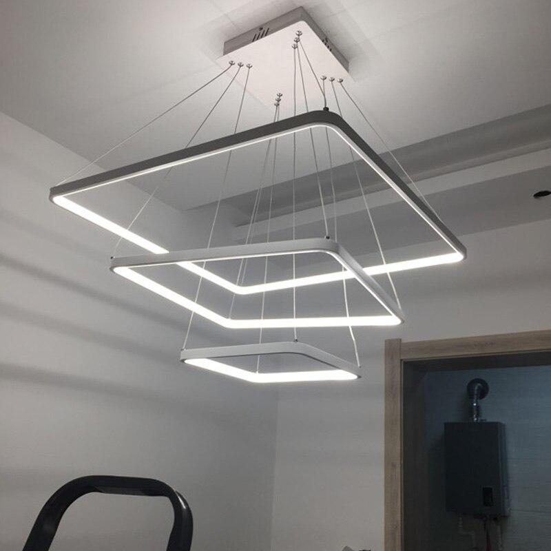 Современные светодиодные подвесные светильники для жизни Обеденная домашнего освещения Lamparas colgantes блеск hanglamp подвесной светильник светил...