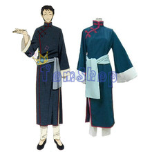 Anime Black Butler Lau Cosplay Chinese Uniform Suit Men's Halloween Costumes Custom-made Any Sizes Free Shipping(China)