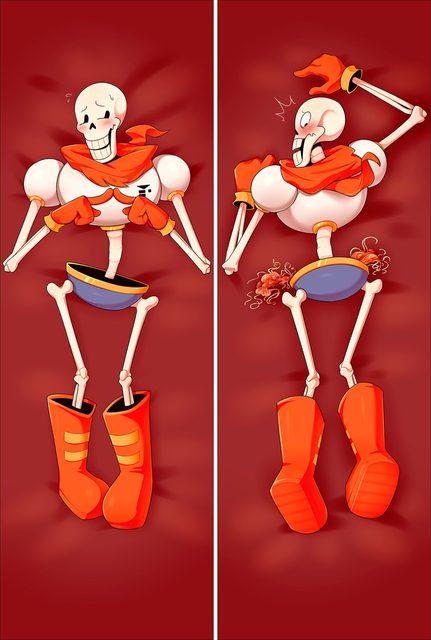 Undertale Sans X Frisk Papyrus Body Pillowcase Human Skeleton Pillow Cover