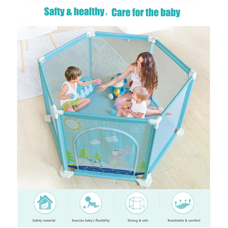 Activity & Entertainment baby playpen Childrens Play Fence Foldable Safety Fence Sofa PU Fence Comfortable And Breathable Playards