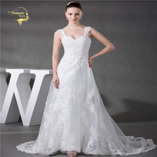 Jeanne Love A Line Lace Wedding Dress 2019 Fashion New Arrival Hot White Vestido De Noiva Straps Robe Mariage JLOV75963