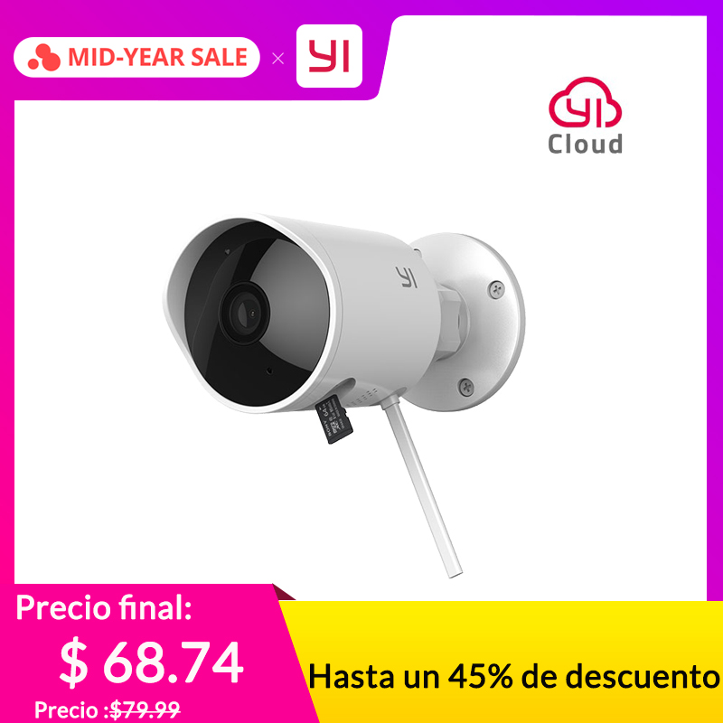 YI Outdoor Security Camera Cloud Cam Wireless IP 1080p resolution Waterproof Night Vision Security Surveillance System WhiteYI Outdoor Security Camera Cloud Cam Wireless IP 1080p resolution Waterproof Night Vision Security Surveillance System White