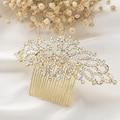 Elegant Crystal Rhinestone Nupcial Peine Del Pelo Del Oro Plateado Floral Peine Del Pelo de La Boda Tiara De La Boda Nupcial Del Pelo Accesorios de La Joyería