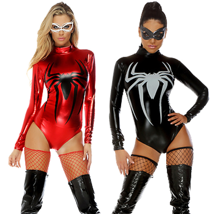 halloween costume cosplay spider woman hero superman jumpsuit carnival role playing clothes costumes superhero sci - Spider Girl Halloween Costumes