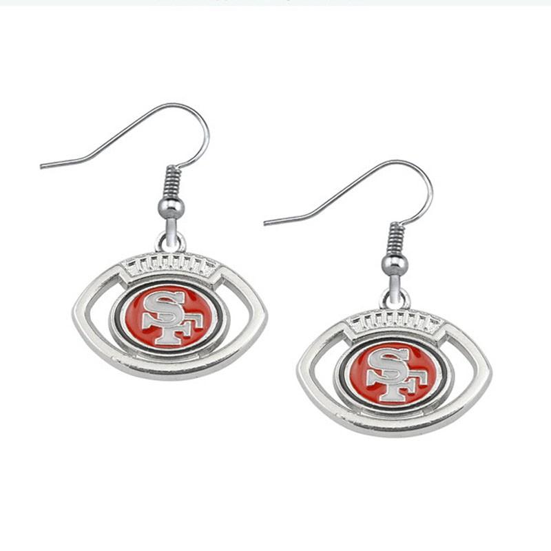 San Francisco 49ers football drip earrings1