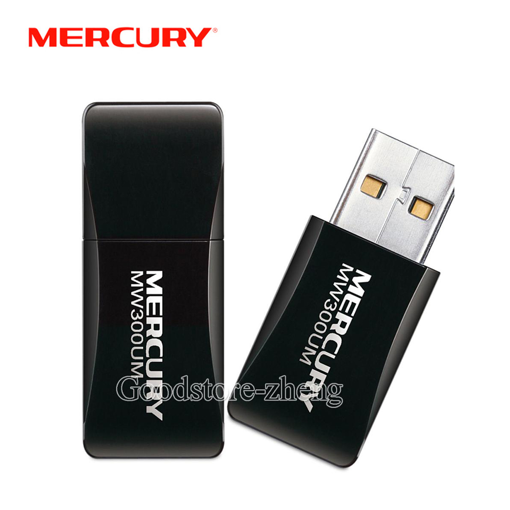 Mercury MW300UM Ultra-smal 300M Wireless USB Wifi Receiver Adapter
