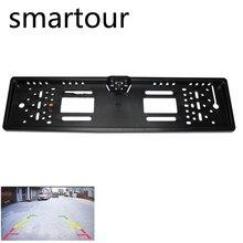Smartour Auto Videocamera vista posteriore Impermeabile Europeo UE License Plate Frame Parktronic Reverse 4 LED Night Vision Telecamera di Retromarcia Della Macchina Fotografica