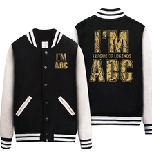 LOL i am ADC \ MID \ APC \ SUP \ JUNGLE Casual Long sleeves baseball Hoodies jacket Cosplay Costume