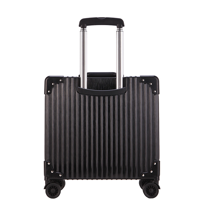 цена на White Silver Pink Gold Black Aluminum frame and PC travel trolley case hardside rolling luggage suitcase