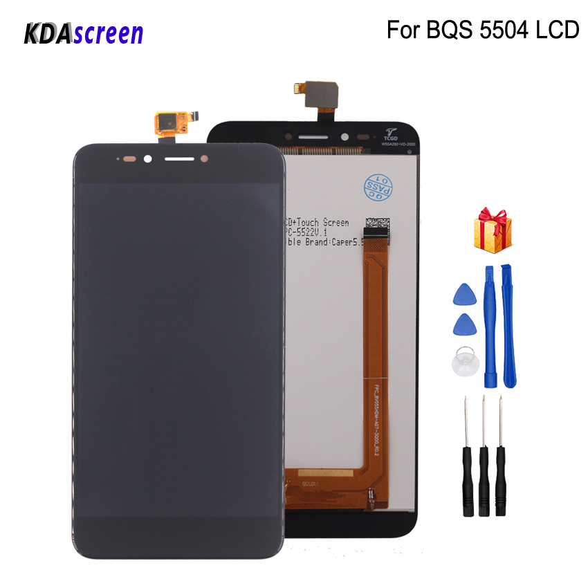 For <font><b>BQ</b></font> <font><b>BQ</b></font>-5504 <font><b>BQ</b></font> 5504 BQS 5504 Strike Selfie <font><b>Max</b></font> LCD Display Touch <font><b>Screen</b></font> Phone Parts Digitizer Replacement With Free Tools image