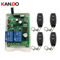 Universal Wireless Remote Control Switch DC12V 24V 36V 48V 2CH Relay Receiver Module and RF Transmitter Remote Controls