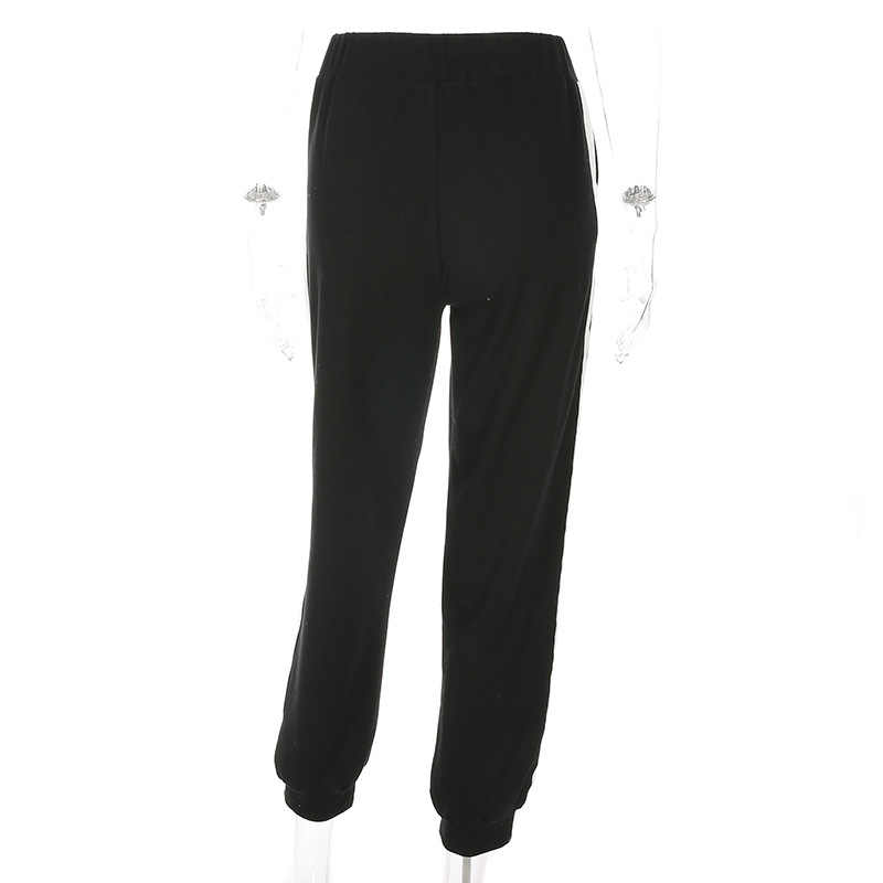 PENERAN スウェットパンツ女性スポーツパンツ黒、白ランニングジョギングパンツ女性フィットネスパンツズボン秋冬 S L