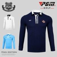 PGM en najaar golf apparel mannen lange mouwen t-shirt winddicht warm golf kleding mannen ademend comfortabele Golf Shirts