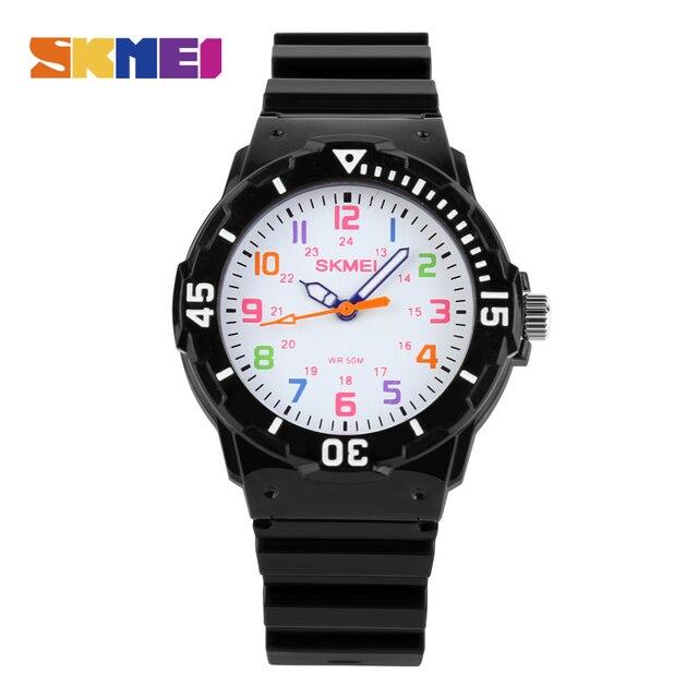 SKMEI Fashion Top New Children Watches 50M Waterproof Quartz Wristwatches Jelly