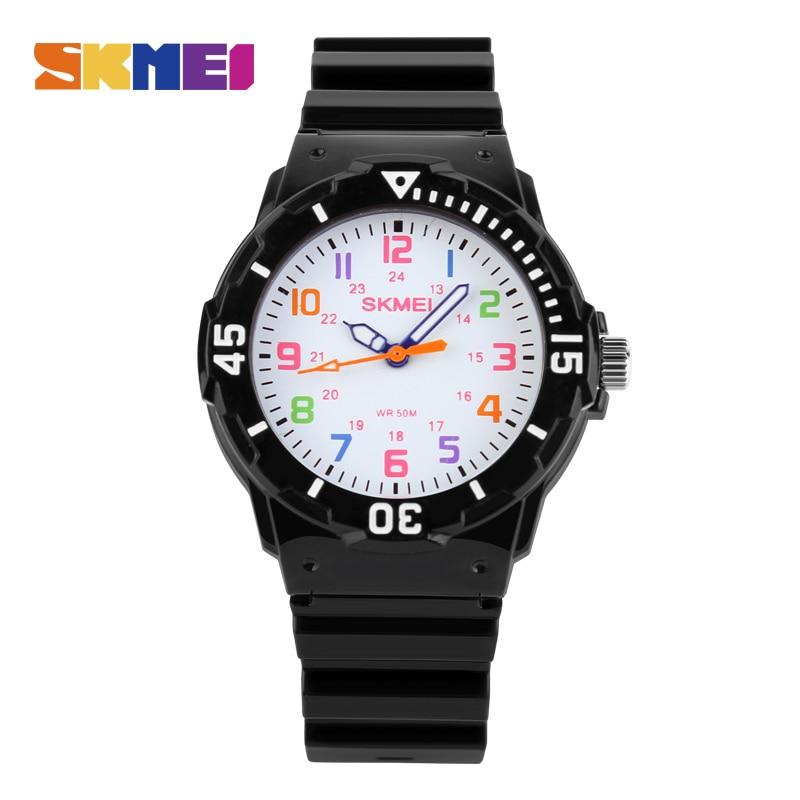 Uhren Skmei Mode Top Neue Kinder Uhren 50 M Wasserdicht Quarz Armbanduhren Gelee Kinder Uhr Jungen Stunden Mädchen Studenten Uhr 1043 Gute WäRmeerhaltung
