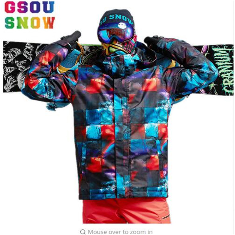 New Hot Sale Of Gsou Snow Winter Outdoor Thermal Mountaineering Jacket Russian men Snowboard Jacket