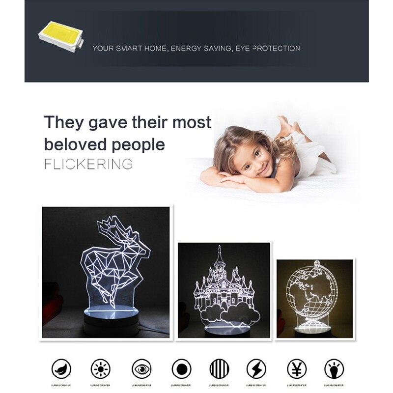 Carousel stereoscopic 3D cartoon lamp night light bedside lamp creative LED lamp decoration