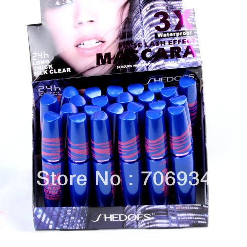 Mascara Eyelash Growth Curling Wand 24 pcs False Lash Effect  Mascara Waterproof 8226