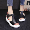 2017 Summer Shoes Platform Sandals Female Artificial Pu Casual Open Toe Fashion Wedges Shoes For Women