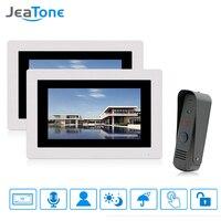 Jeatone 7タッチスクリーン有線ビデオドアベルビデオインターホン防雨ドア電話ホームセキュリティシステム1カメラ2モニター