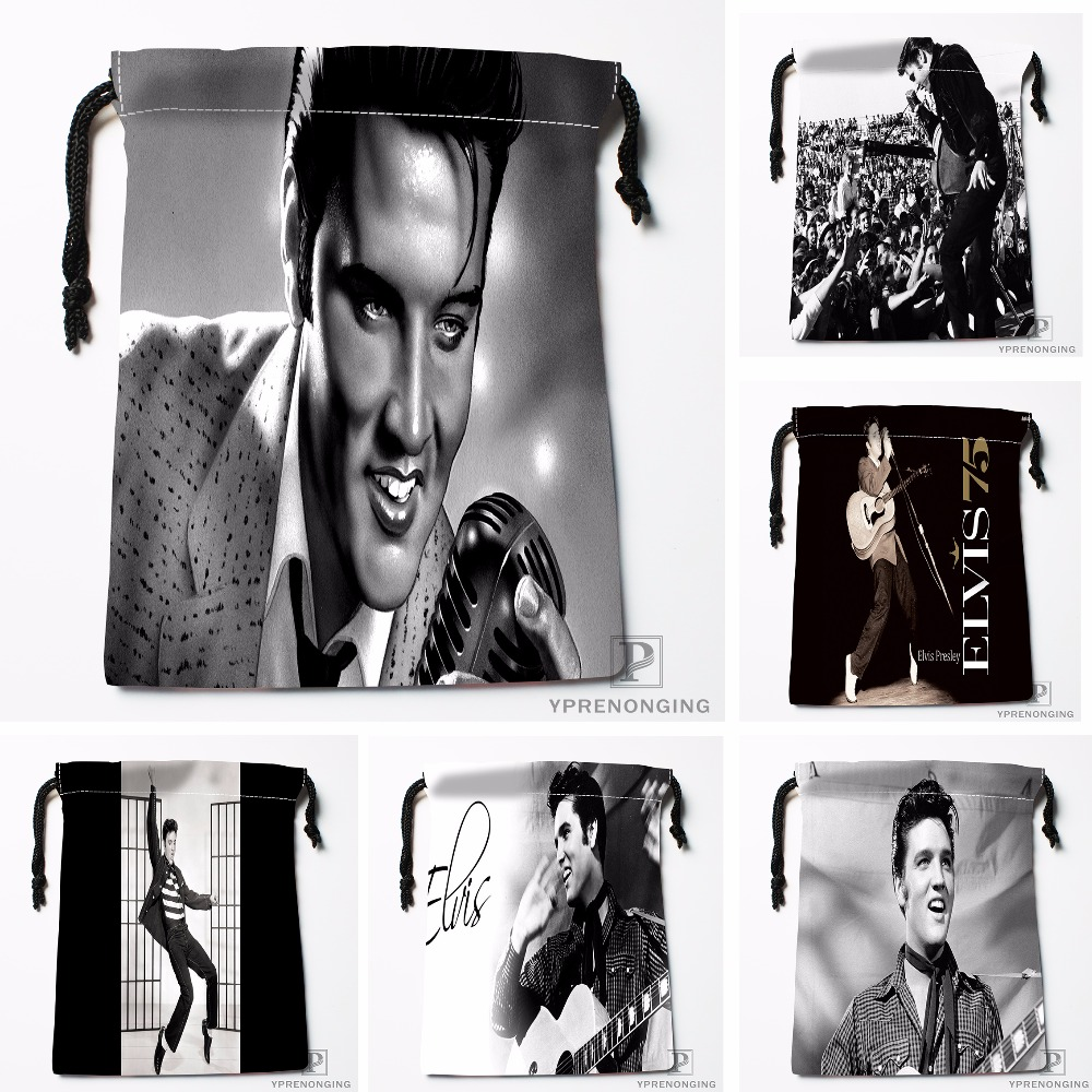 Custom Elvis Presley Drawstring Bags Printing Fashion Travel Storage Mini Pouch Swim Hiking Toy Bag Size 18x22cm#180412-11-13