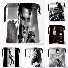 Custom Elvis Presley Drawstring Bags Printing Fashion Travel Storage Mini Pouch Swim Hiking Toy Bag Size