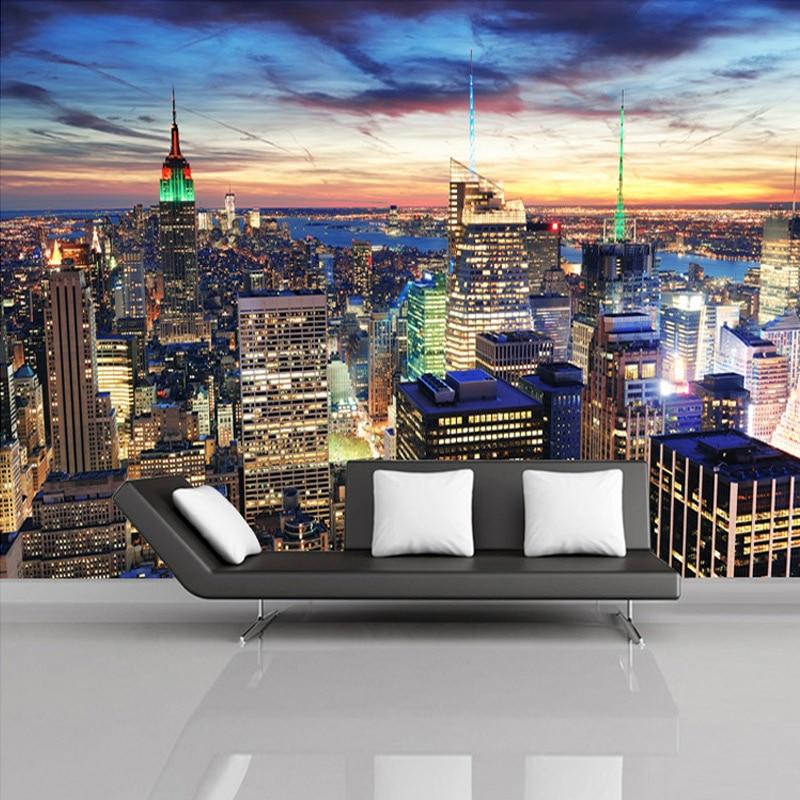 Custom Mural Wallpaper European Style 3d Stereoscopic New York City Bedroom Living Room Tv Backdrop Photo Wallpaper Home Decor Wallpaper Home Decor Custom Muralphoto Wallpaper Aliexpress