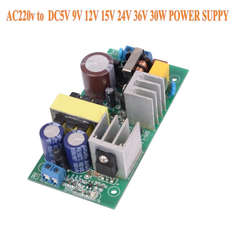 AC-DC 220V TO 5V 9V 12V 15V 24V 36V 30W Power supply Isolated switch power supply module 220 to 5v board GPN30E X8721