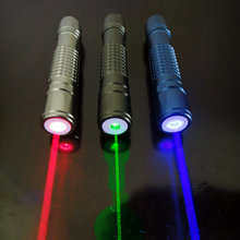 Promo offer JSHFEI 5in1 green/red/blue  laser pointer 200mw powerful adjustable focus burning match cigarette with 5 laser heads+battery