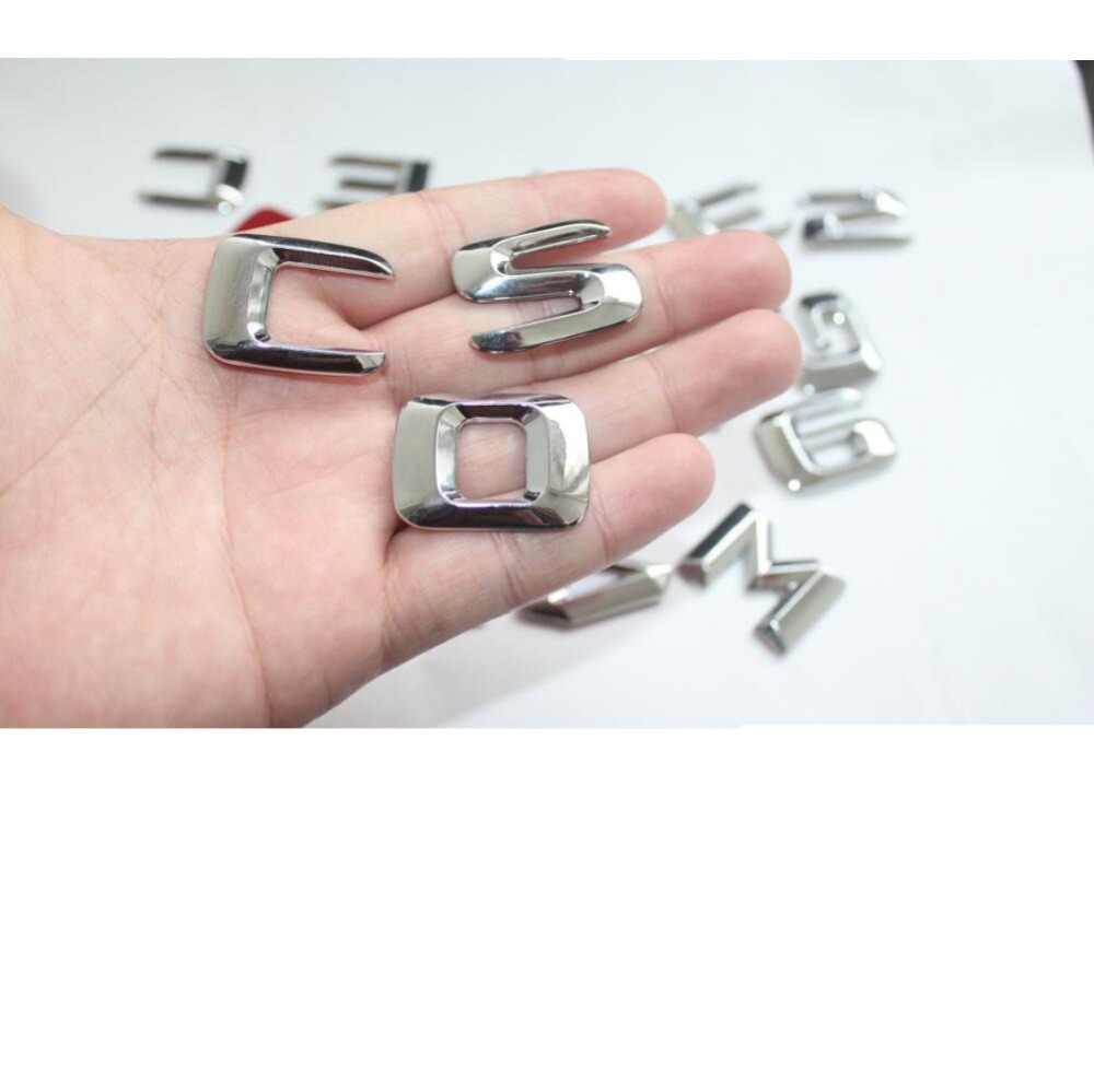 Хром 3D ABS пластиковый автомобильный багажник задние слова из букв значок эмблема наклейка Наклейка для Mercedes Benz GLE класс GLE400