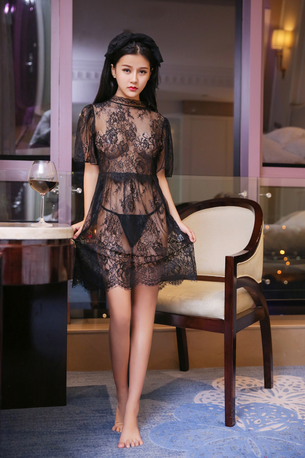 Sexy Lingerie Hot Women Lingerie Sexy Hot Erotic Underwear Black Lace Erotic Dress Cute Girl Intimates Nightdress Exotic Apparel