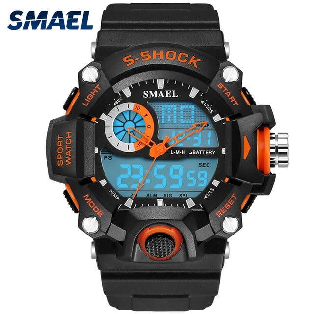 SMAEL Watches Men Military Army Mens Watch Reloj Electronic Led Sport Wristwatch