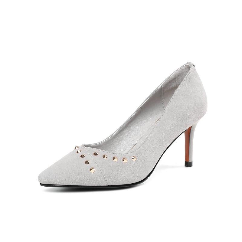 Gratuite Pompes 39 Talons Nouveau De Printemps Haute Mode Livraison gris Base Chaussures Salu En Femme Daim 34 Noir Été Naturel Noir Cuir wHF7qE