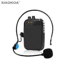 Усилитель голоса, громкоговоритель, мини-гарнитура, микрофон для учителя, руководство по промоакции, Мегафон, для встречи, речи, XIAOKOA