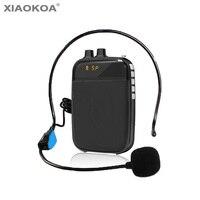 Amplificador de voz alto falante mini fone de ouvido microfone para professor guia de promoção específico megafone reunião discurso xiaokoa Megafone     -