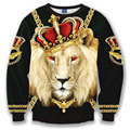 2016 new fashion women/men 3d sweatshirt printed lion/dog/tiger sweatshirts womens harajuku galaxy hoodies & sweatshirts