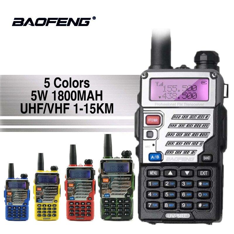 Baofeng UV-5RE Walkie Talkie Super Signal Dual-Band-Handheld Zwei Weg Ham Radio Communicator UV-5R Plus HF Transceiver Amateur