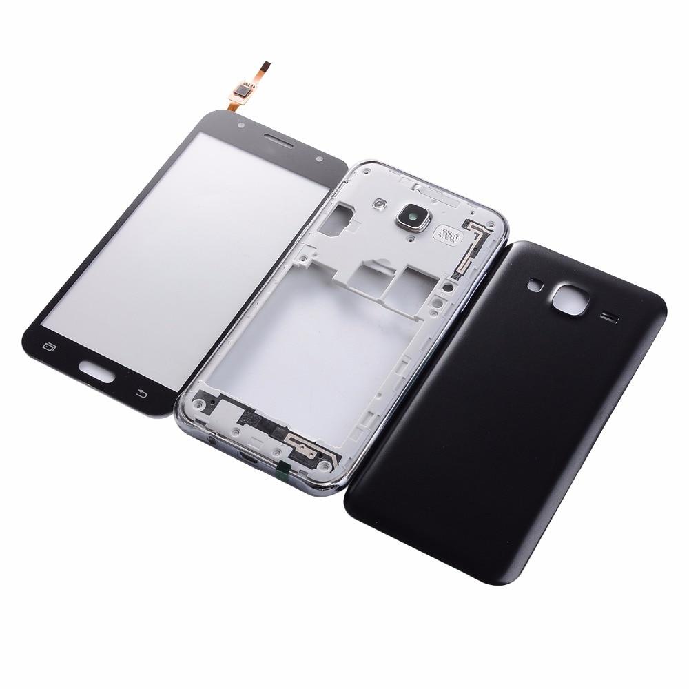 Для Samsung Galaxy J5 2015 <font><b>J500</b></font> J500F J500H Корпус Средний Рамки Батарея крышка ЖК-дисплей Сенсорный экран Стекло