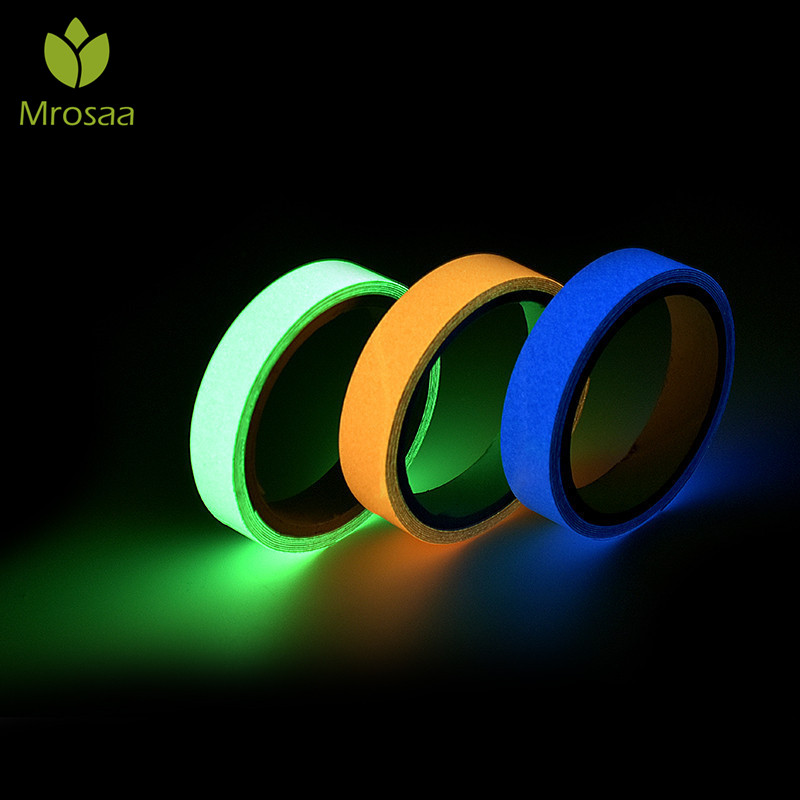 3/10M 10/15/25MM Luminous Tape Night Vision Glow In Dark Self-adhesive Warning Tape Safety Security Home Decoration Stickers