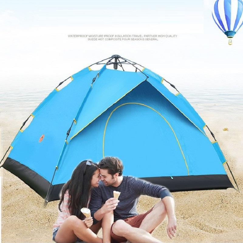 Outdoor Camping Tent Automatic Tent Ultralight Pop Up Beach Tent Gazebo Sun Shelter Awning Tente Camping 2 person outdoor summer tent gazebo beach tent sun shelter uv protect fully automatic quick open pop up awning fishing tent big size