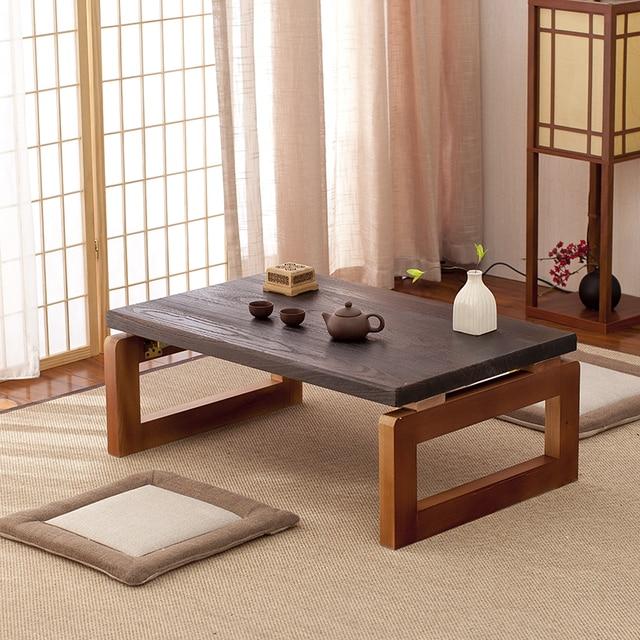 Superior Vintage Holztisch Faltbare Beine Rechteck 90 Cm Wohnzimmer Möbel  Asiatisches Antiken Stil Langen Bank Niedrigen Couchtisch