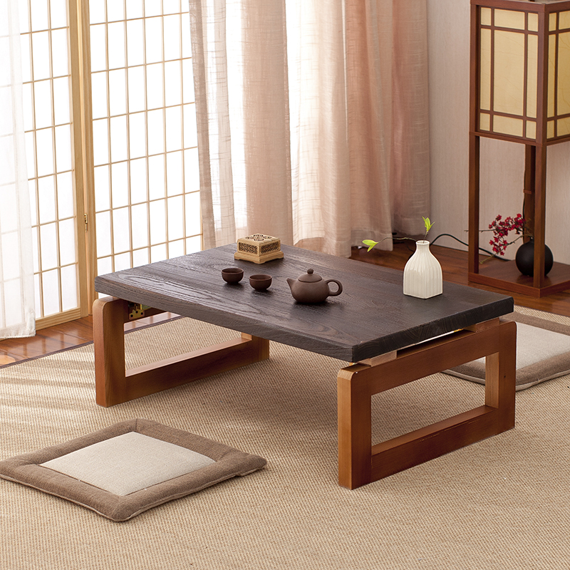 Vintage Wooden Table  Foldable Legs Rectangle 90cm Living Room Furniture Asian Antique Style  Long Bench  Low Coffee Table Wood wood furniture korean dining table folding leg rectangle 90 80cm home furniture asian antique floor low dining table wooden