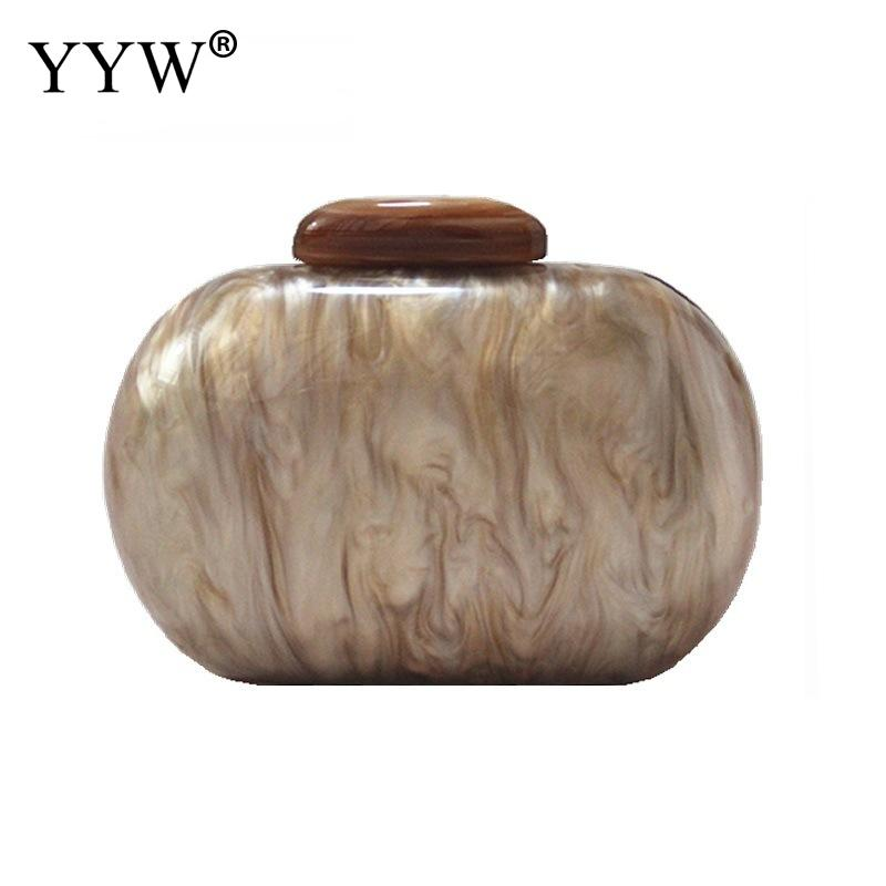 YYW 2018 Women Concise Clutch Bag Fashion Chain Shoulder Bags Party Wedding Messenger Female Clutches Daybags